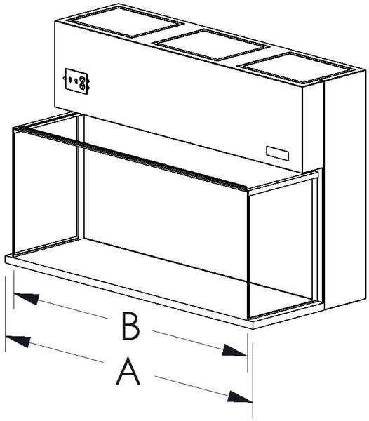 horizontal laminar clean benches